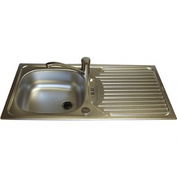 SINK & DRAINER 860 X 435MM STAINLESS STEEL